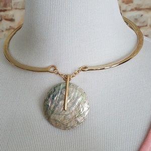 New Robert Lee Morris Disc Pendant Necklace